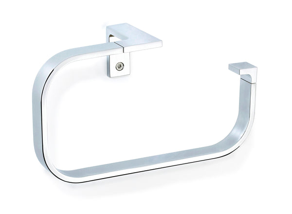 Orio polished chrome towel ring. Hand towel holder