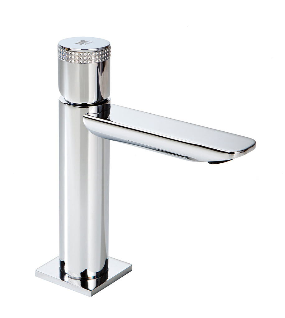 Serpi single handle bathroom sink faucet. Swarovski crystals inlaid.