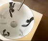 Totem bathroom vessel sink designed by Adri Santiago