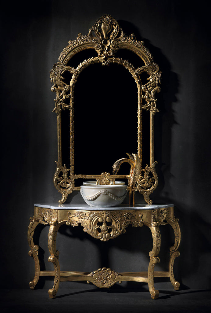 "Isabel Traditional Bathroom console 51"". Antiquary Gold leaf."