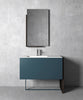 "MO-DO bathroom vanity 41"". Matte blue lacquered."