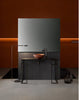 Corten steel bathroom vessel sink. Matte Oxide