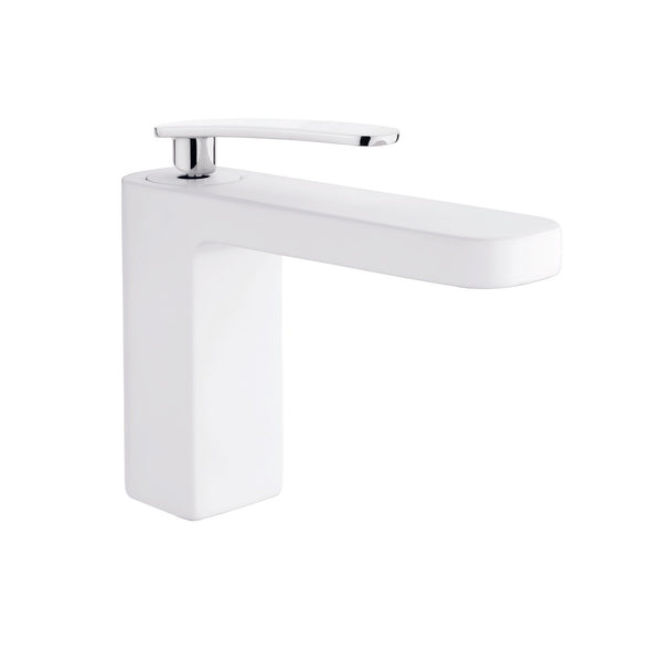 Single-Handle Bathroom Sink Faucet Despertar White
