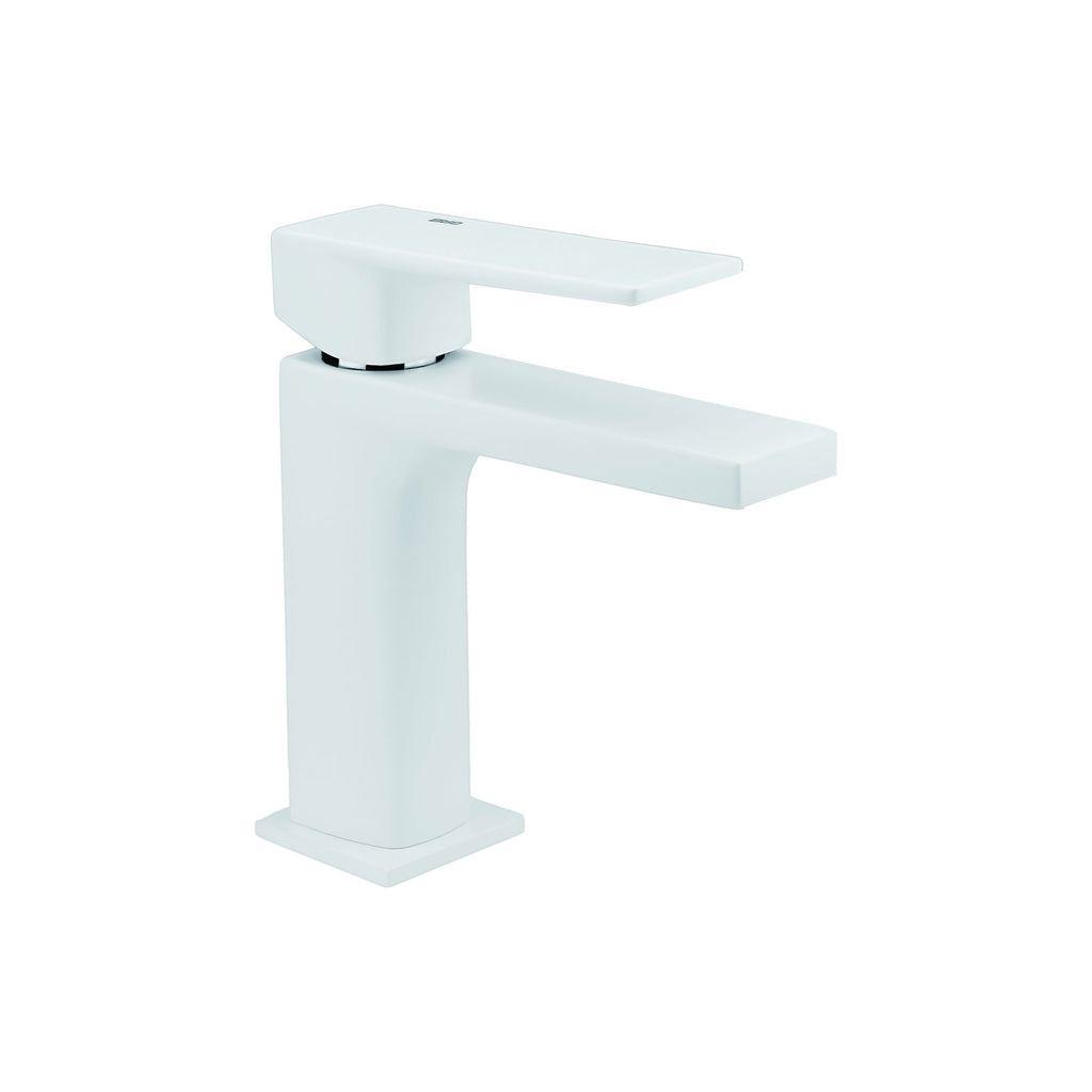 Single-Handle Bathroom Sink Faucet Kala White