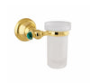 Atlantica Precious gold wall toothbrush holder with Malachite stone inlaid