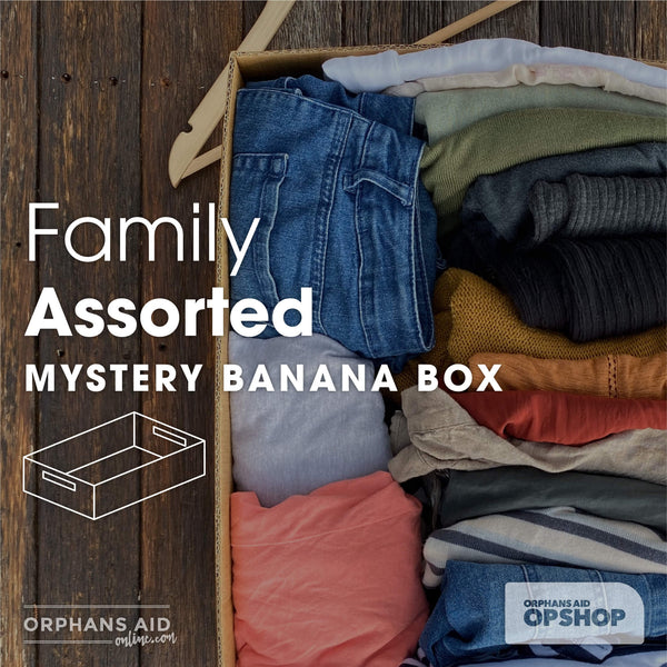 Family Assorted Clothing Mystery Banana Box (Great for a gift!)