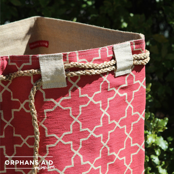 Cloth Hessian Sack - Fez Red
