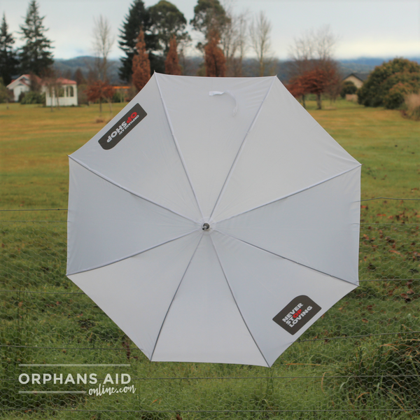 "Orphans Aid Opshop ""Never Stop Loving"" Umbrella"