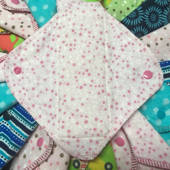 NEW SIZE: Set of 10 MamaBear LadyWear Cloth Menstrual Pad, Pantyliner - Mini Maxi for Teens, Tweens, Petites