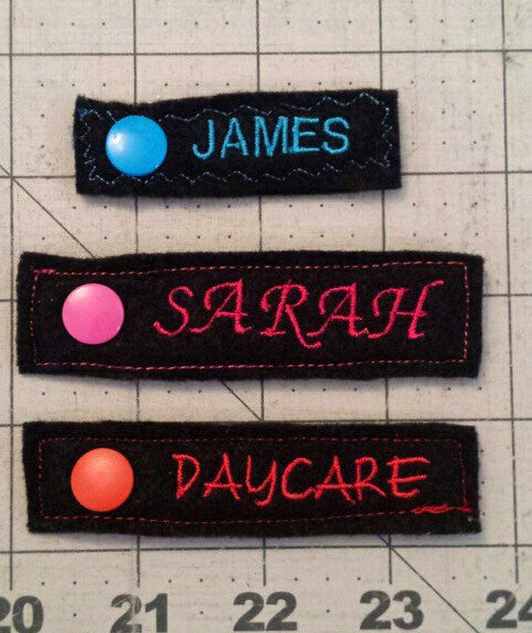 Snap On Cloth Diaper Labels