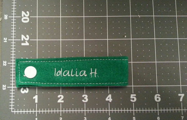 Snap On Reusable Name Tags Labels, Embroidered Custom