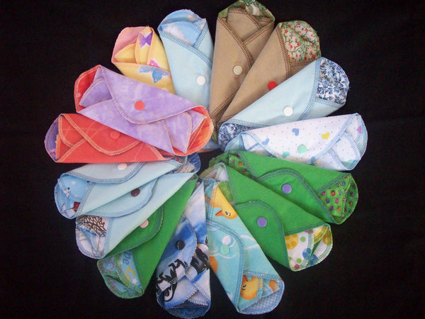 Set of 5 MamaBear LadyWear Quick-Dry menstrual pad, pantiliner - COTTON VELOUR - Light/Medium Flow