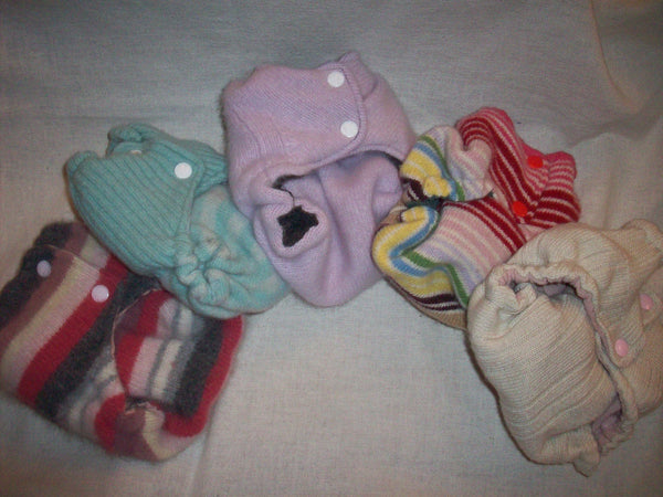 2 Custom MamaBear BabyWear One Size Wool Diaper Covers