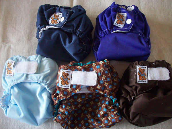 MamaBear Waterproof Diaper Cover, Wrap One Size Fits Most - Set of 10 Mixed Prints and Solids