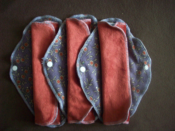 Random Set of 3 LadyWear Quick-Dry cloth menstrual pads - Medium/Heavy Flow