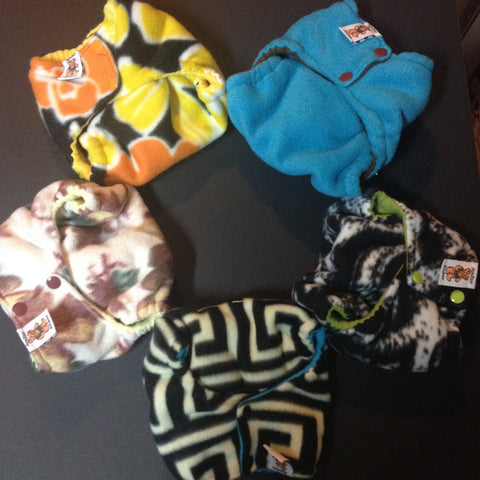 Set of 5 MamaBear One Size Fleece Diaper Covers - Build Your Stash