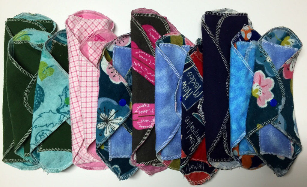 Try 3 MamaBear LadyWear Quick-Dry cloth menstrual pads - Medium, Light, and DailyWear