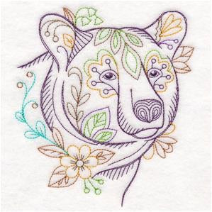Add an Embroidered A Flowered Animal to your Diaper Cover or Lovey