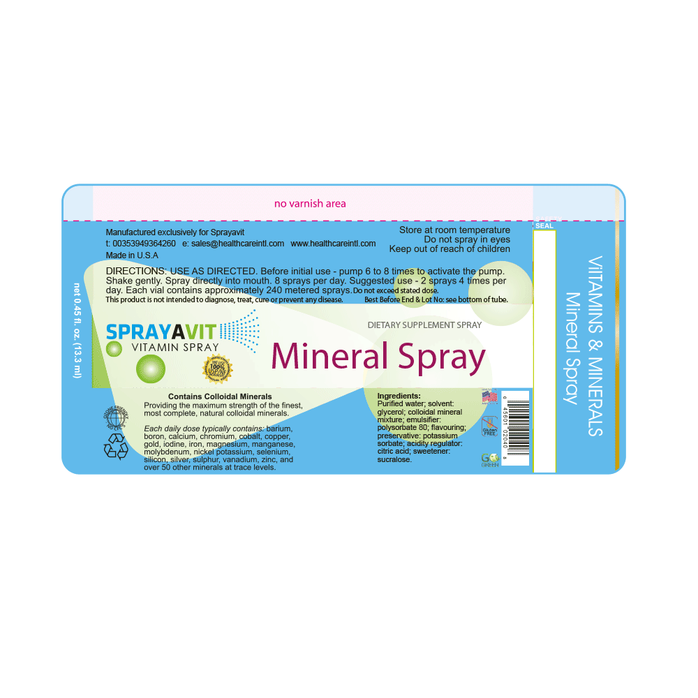 Mineral Spray Label Ingredients