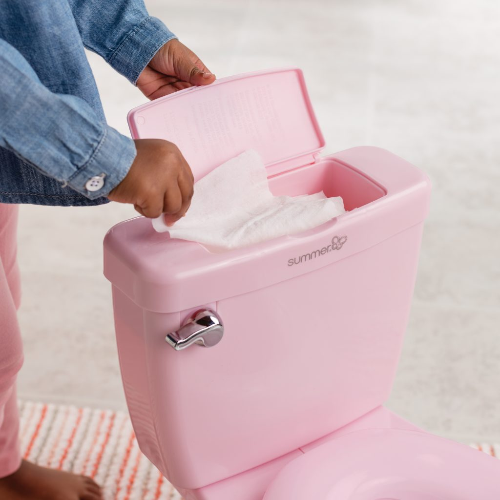 Summer Infant My Size Potty - Toddler Toilet Training Seat with Sound Flash Handle & Lid - Pink Girl cutebabyangels.co.uk
