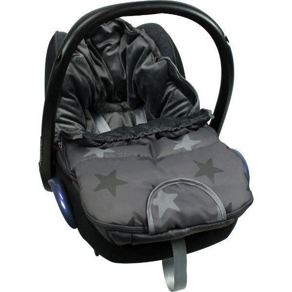 Luxury Dooky Winter Footmuff & Luner Small – Dark Grey Stars  cutebabyangels.co.uk