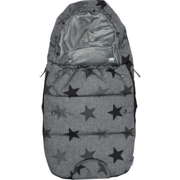 Luxury Dooky Winter Footmuff & Liner Small – Grey Stars or Blue Tribal cutebabyangels.co.uk