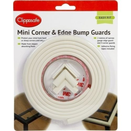 Clippasafe Mini Corner & Edge Bump Guards Kit- Cream cutebabyangels.co.uk