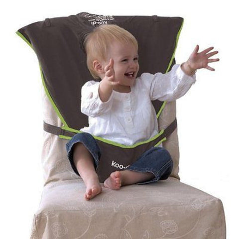 Koo-Di Seat Me Safe Travel Seat Harness - Grey - Green - Cute Baby Angels Ltd