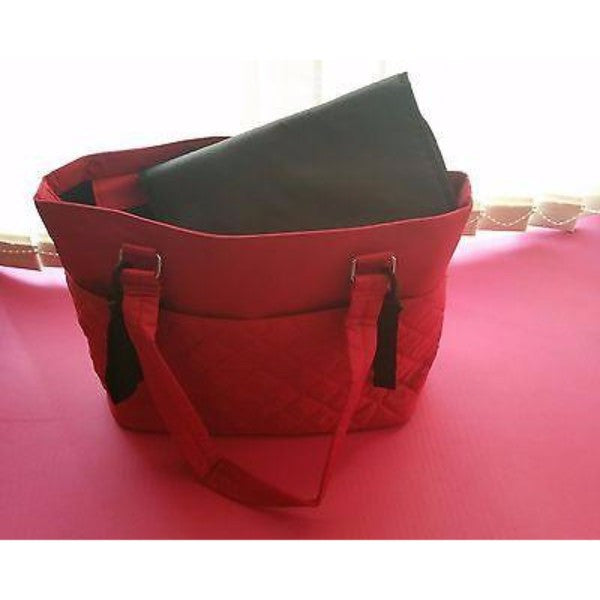 Summer Infant Quilted Tote Baby Nappy Changing Bag - Ruby Red - Cute Baby Angels Ltd