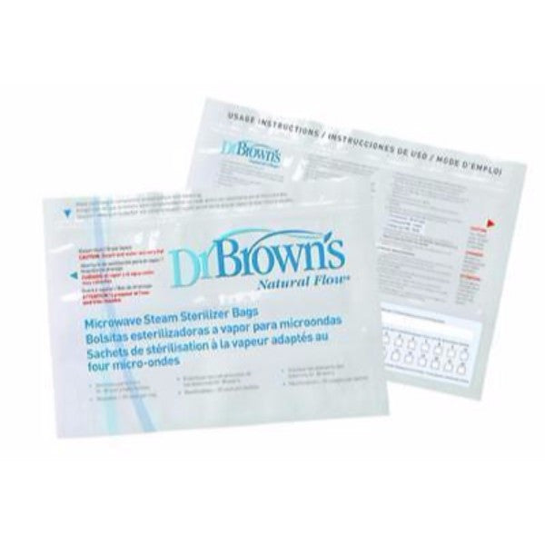 Dr Browns Reusable Microwave Sterilizer Bags – BPA FREE - 5 or 10 Pack - Cute Baby Angels Ltd