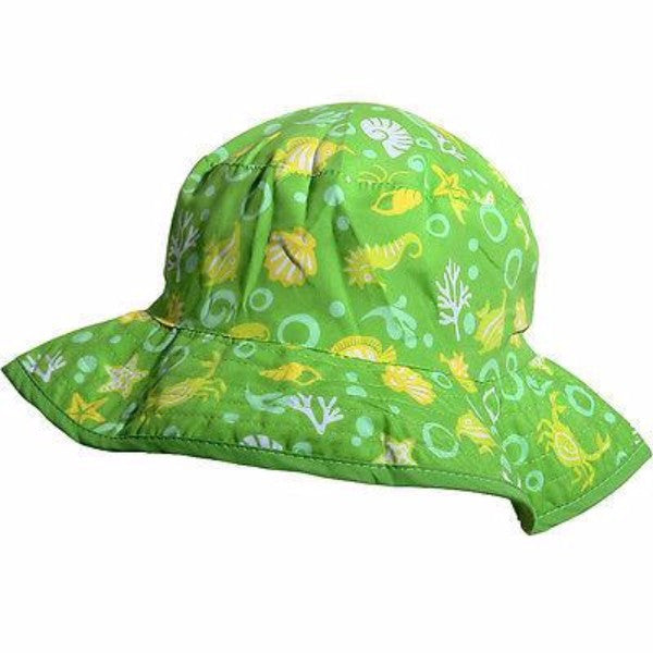 Baby Banz Reversible Sun Hat Lime Sea - 2 Sizes - Cute Baby Angels Ltd
