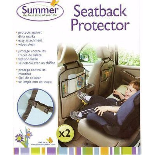 Summer Infant Seat Back Protector & Organizer - Twin Pack - Cute Baby Angels Ltd