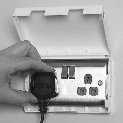 Clippasafe Double Electic Socket Cover Box