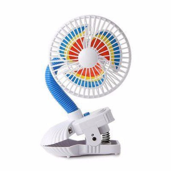 Kel Gar Pinwheel Buggy Fan - Clip On or Free Standing - Cute Baby Angels Ltd