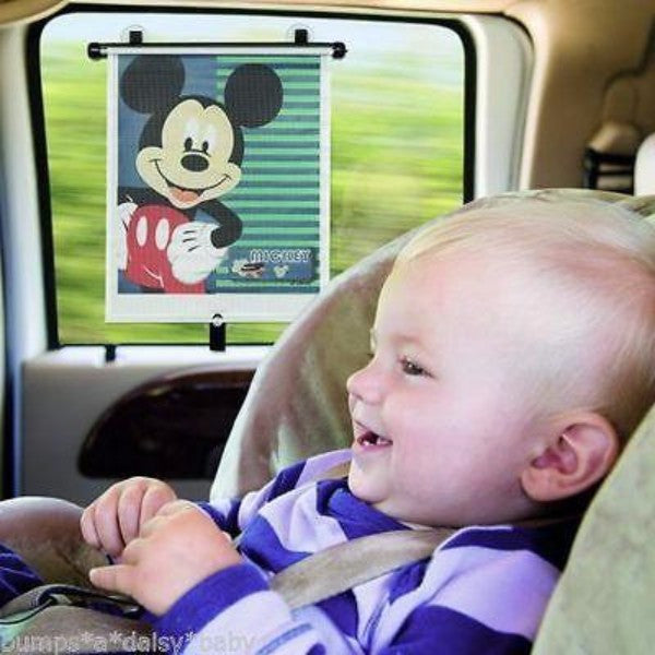 Disney Mickey Mouse Adjust & Lock Car Roller Blind – Sun Protector - Cute Baby Angels Ltd