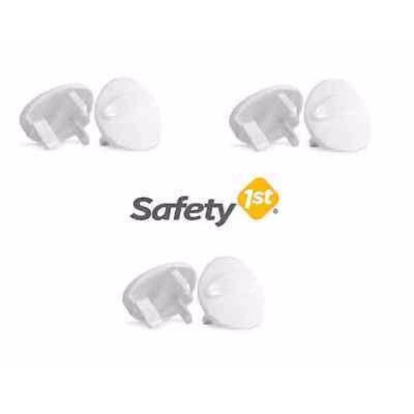 Safety 1st Socket Inserts White - 6 Pack - Cute Baby Angels Ltd