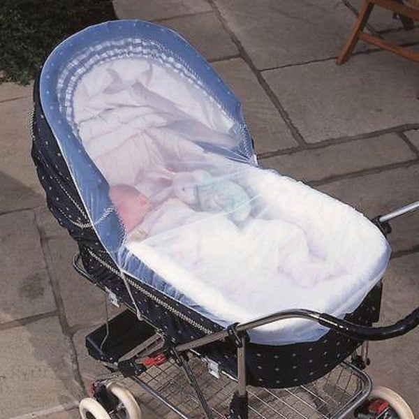 Clippasafe Pram & Carrycot Insect Net - Black or White - Cute Baby Angels Ltd