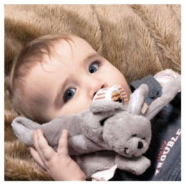 Sleepytot Bunny Baby & Toddler Comforter Plush Toy - Large Grey cutebabyangels.co.uk