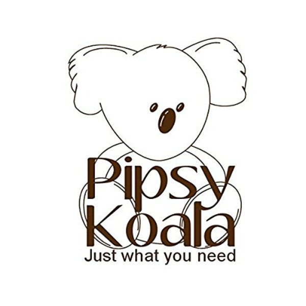 Pipsy Koala Unisex Black Baby Nappy Changing Bag with Change Mat & Insulated Pouch cutebabyangels.co.uk