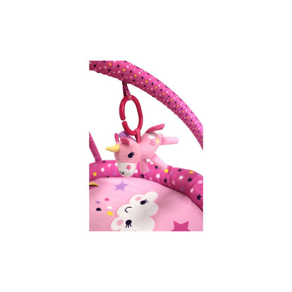 Red Kite 2 in 1 Pink Unicorn Play Gym & Mat with Removable Arch & Toys