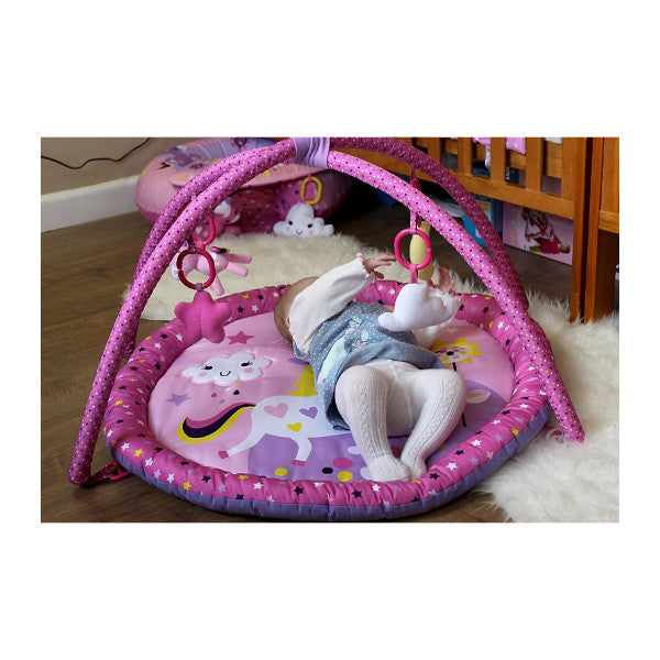 Red Kite 2 in 1 Pink Unicorn Play Gym & Mat with Removable Arch & Toys cutebabtangels.co.uk