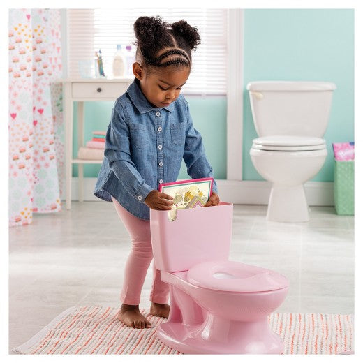 Summer Infant My Size Potty - Toddler Toilet Training Seat with Sound Flush Handle & Lid - Pink Girl