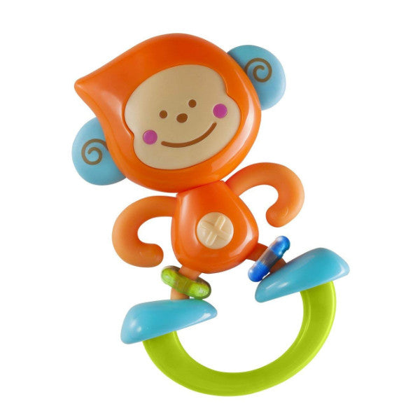 B Kids Bebee Monkey - 2 in 1 Rattle Toy & Baby Teether  black friday cutebabyangels.co.uk
