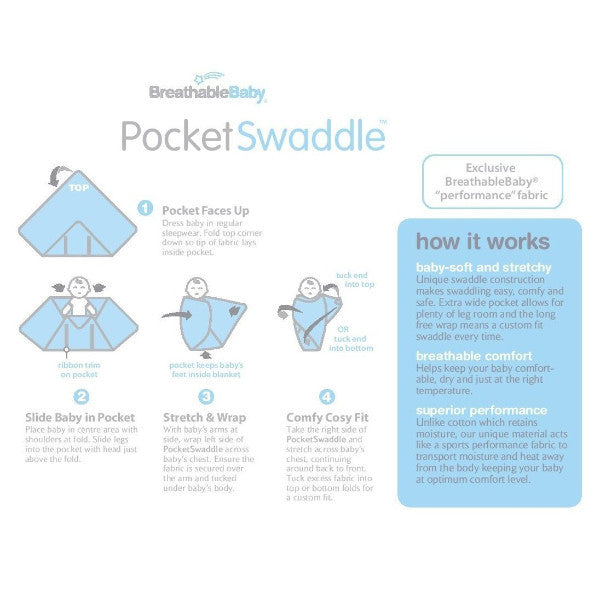 Breathable Baby Pocket Swaddle - Soft & Stretchy Wrap - Safari 0-3 Months