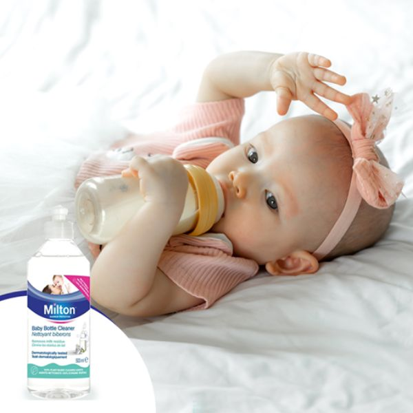 Milton Baby Bottle Cleaner 500ml - Baby Feeding Feeding Sanitising Fluid cutebabyangels.co.uk