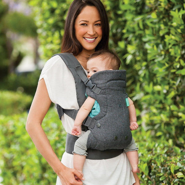Infantino Flip Advanced -  4-in-1 Convertible Baby Carrier - Grey cutebabyangels.co.uk