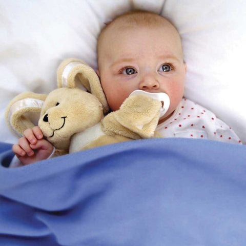 Sleepytot Bunny Baby & Toddler Comforter Plush Toy - Large Cream cutebabyangels.co.uk