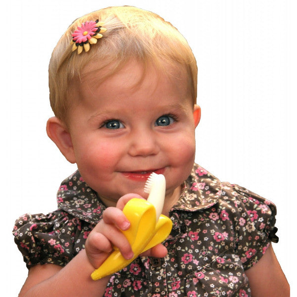 The Original Baby Banana - Infant Toothbrush & Gum Massager - 0 to 12 months  cutebabyangels.co.uk