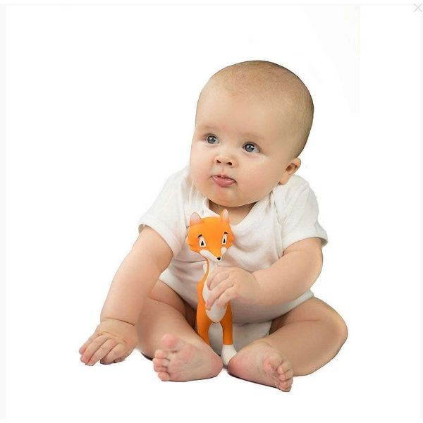 Ethan the Fox Baby Teething Toy – Teeth & Gum Massager cutebabyangels.co.uk