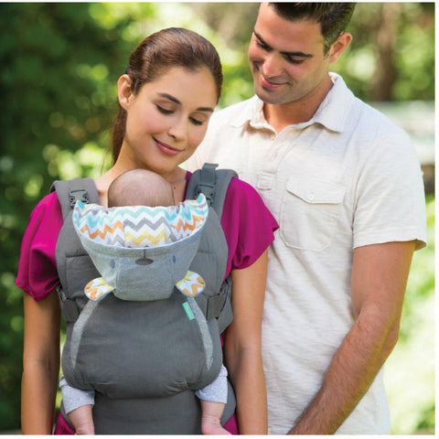 Infantino Cuddle Up Ergonomic Hoodie Baby Carrier Carrier - Grey cutebabyangels.co.uk